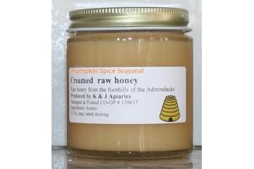 Organically Flavored Pumpkin Spice Creamed Raw Honey - 1/3 lb Jar